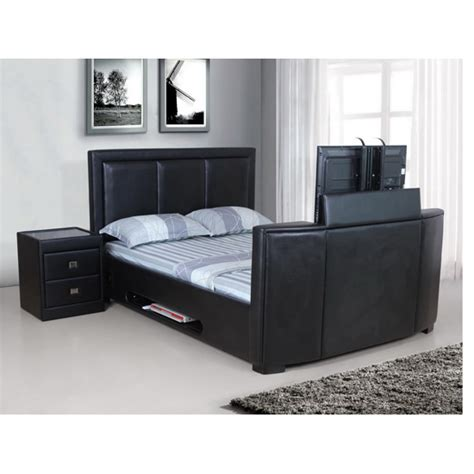 Bed Frame With Tv Mount Tv Stands For The End Of Beds 5 Functional Ideas