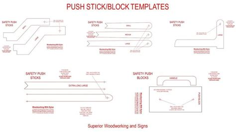 push stick template push stick templates woodworking projects plans