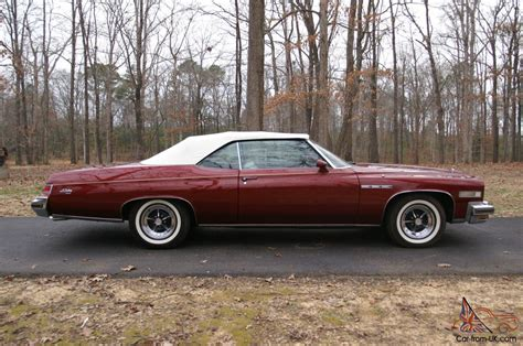 buick lesabre 1975 1975 buick lesabre custom convertible with 455 ci engine