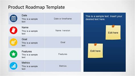 product template product roadmap template for powerpoint slidemodel