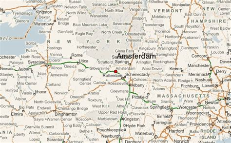map of new york and surrounding areas amsterdam new york location guide