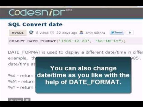 default date format of mysql mysql tutorial convert date youtube