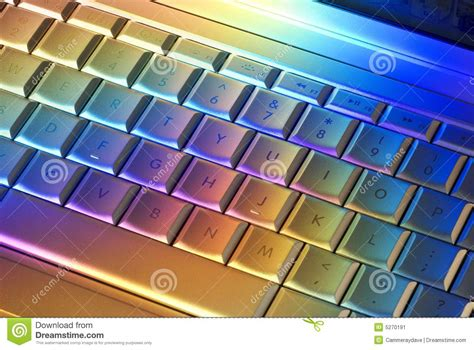 colorful keyboard colorful computer keyboard technology stock image image