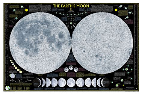 moon map skymaps astronomy posters