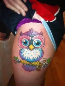 colorful owl tattoos owl by jayblum on deviantart