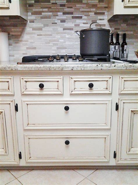 Painting Kitchen Cabinets Chalk Paint Antique White Kitchen Makeover General Finishes Design