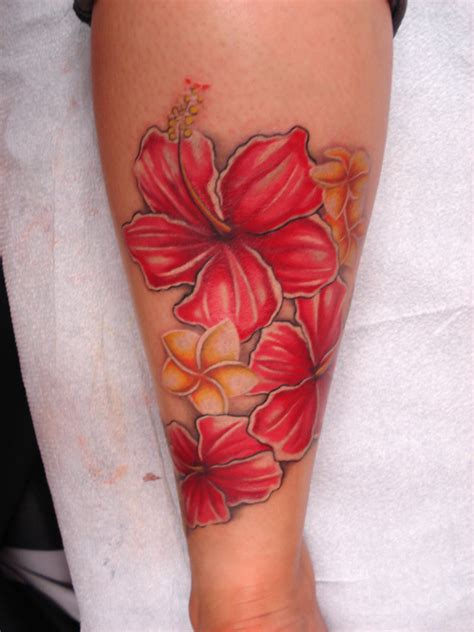 frangipani tattoos designs free hibiscus and plumeria design