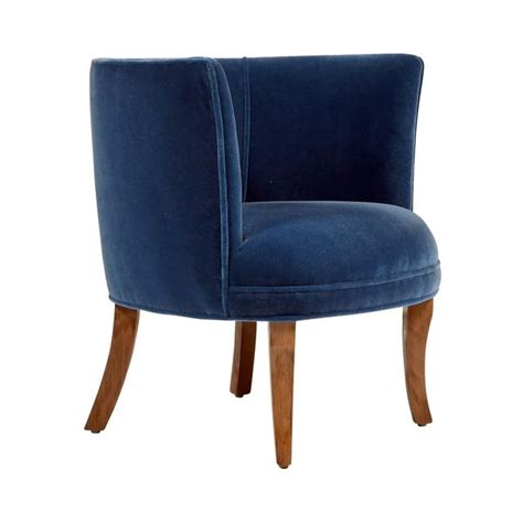 Navy Blue Armchair by Book Nook Navy Armchair