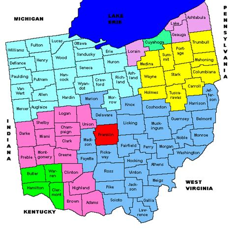 ohio zip code map ohio area codes