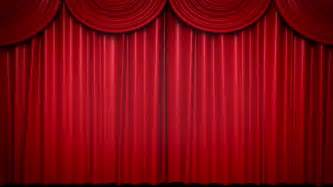 High definition clip of an opening red stage curtain animated mask