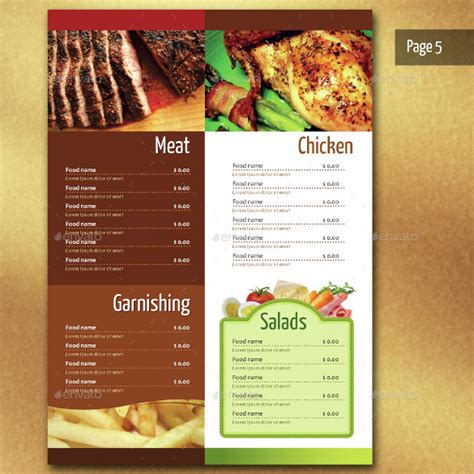 adobe illustrator menu template restaurant menu templates 30 free psd eps documents