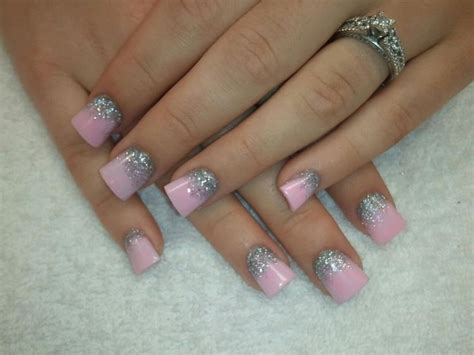 pink glitter acrylic nail designs pink barbie acrylic nail designs nails things pinterest