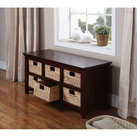 homestar inspirations by broyhill 6 basket storage console