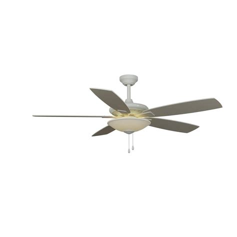 Hampton Bay Menage 52 in. Integrated LED Indoor White Ceiling Fan 14603 The Home Depot