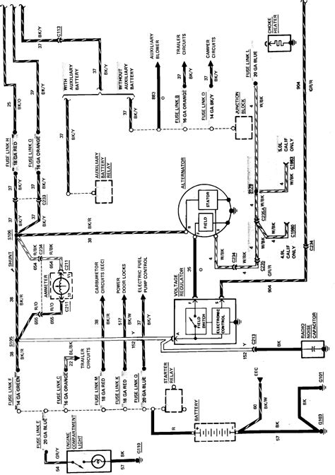 ford charging system wiring diagram 35 wiring diagram