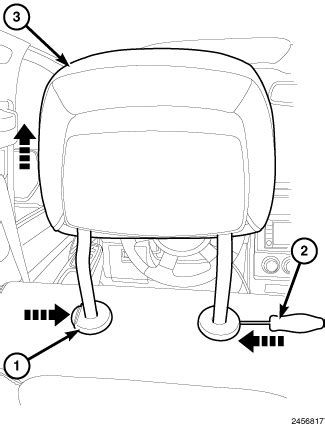 dodge journey headrest front headrest removal dodgeforum