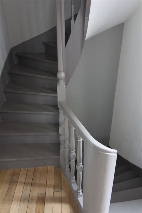 Escalier Peint En Gris by Escalier Peint Maison Escaliers Peindre