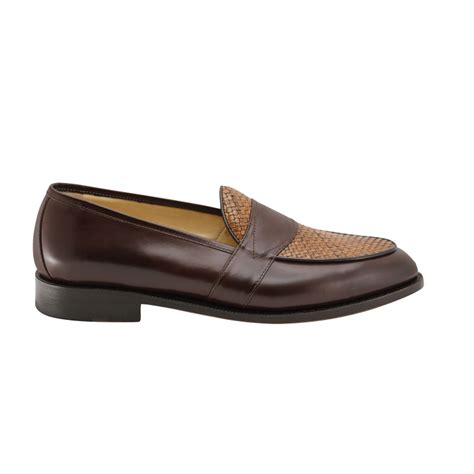 goodyear welted loafers nettleton goodyear welted woven loafers brown