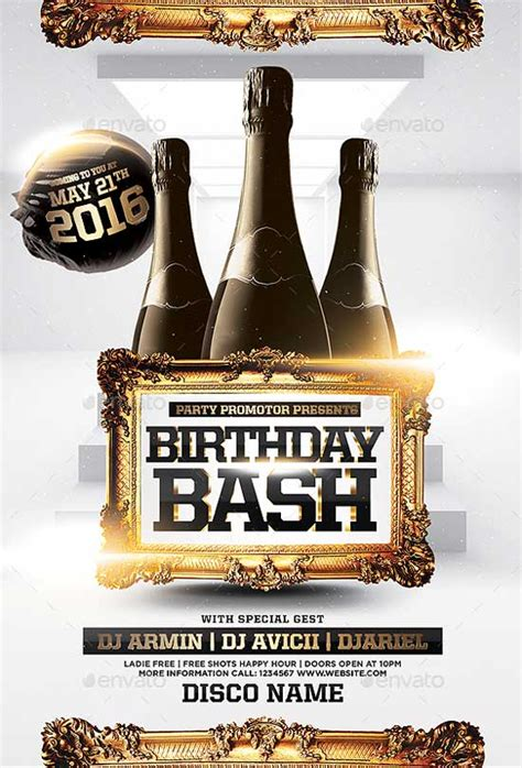 Bash Flyer Template Best Of Birthday Flyer Templates Free And Premium Flyer Collection