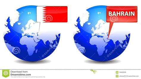 design grafix bahrain globe with bahrain sign royalty free stock photo image