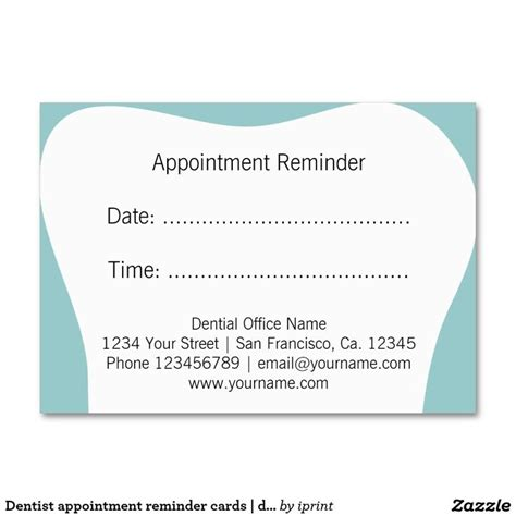 71 Best Images About Dental Dentist Office Business Card Templates On Pinterest Dental Dental Appointment Reminder Templates
