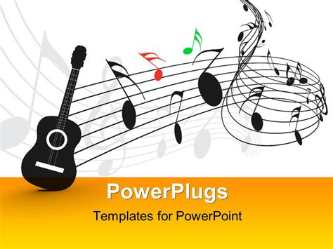 templates for powerpoint music powerpoint template guitar with music notes and symbols