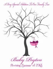 Items similar to baby shower guest finger print tree on etsy