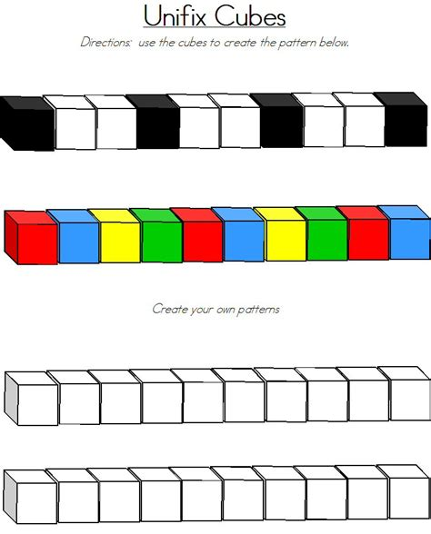 pattern activities with unifix cubes unifix cubes images images