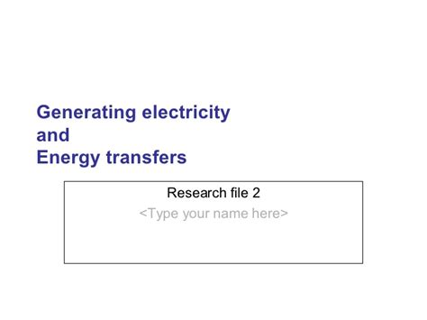 generating electricity advantages