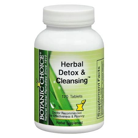 Detox Cleanse Supplements by Botanic Choice Herbal Detox Cleansing Herbal Supplement