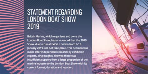 boat show excel 2019 2019 london boat show cancelled the islander