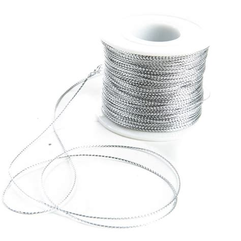 wire jewelry supplies silver metallic cord trim jewelry wire and cords