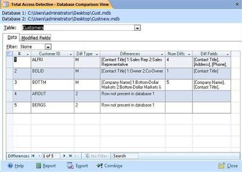 Data Records Compare Microsoft Access Records In Tables And Queries For Data Differences