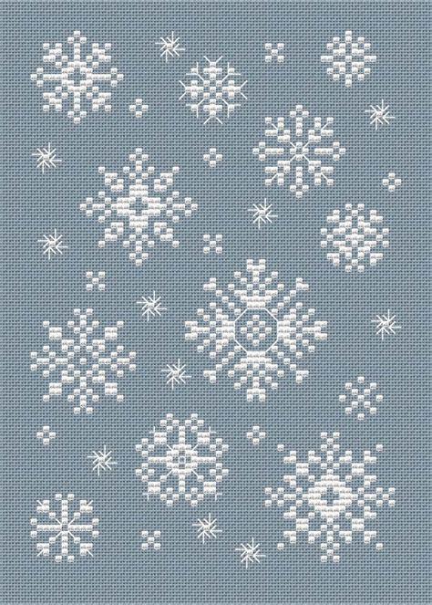 snowflake pattern cross stitch snowflakes cross stitch and stitches on pinterest