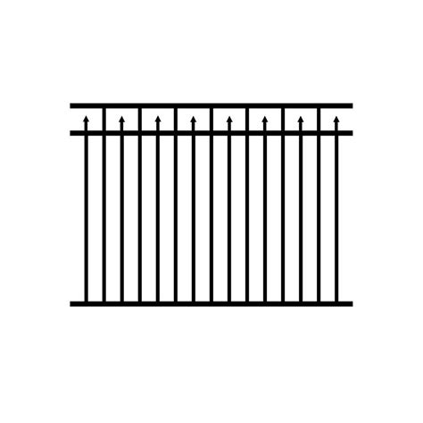fence sections home depot jerith 4 5 ft h x 6 ft w adams aluminum black fence