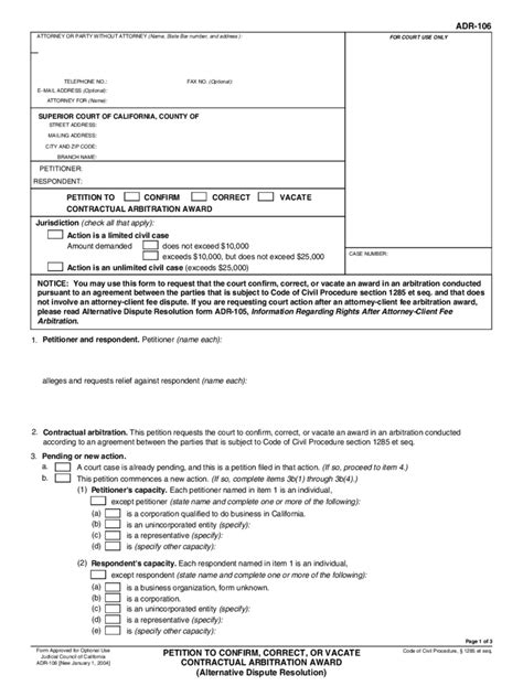 Alternative Dispute Resolution Letter Template California Alternative Dispute Resolution Forms 11 Free Templates In Pdf Word Excel