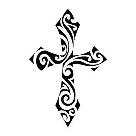 cross tattoo stencil tribal tattoos and designs page 141