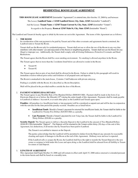 blank lease template 12 best images of basic rental agreement blank form