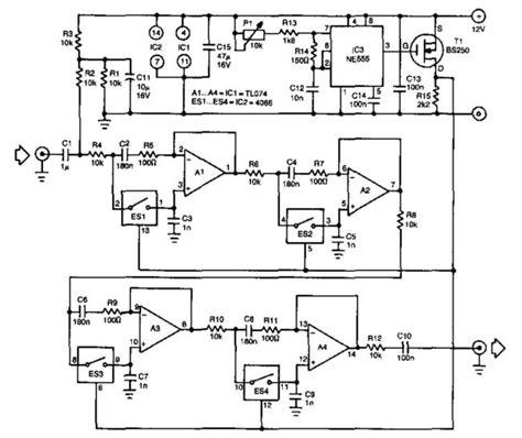 resistor filter circuit tunable bandpass filters variable resistors lifiercircuits