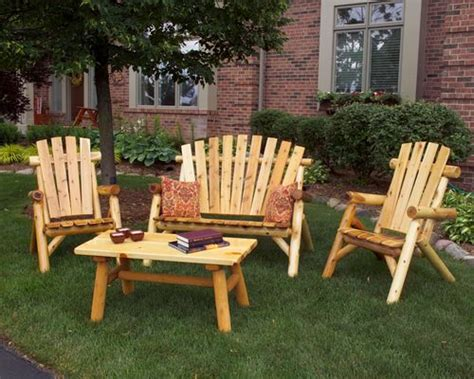 wood patio furniture sets home outdoor