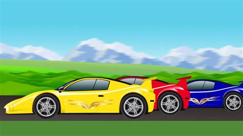 cartoon race car sports car race cartoon car racing for children youtube