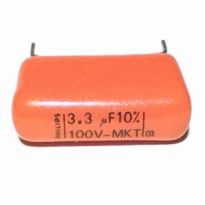 philips metal petp capacitor 3 3uf 100v 368 mkt
