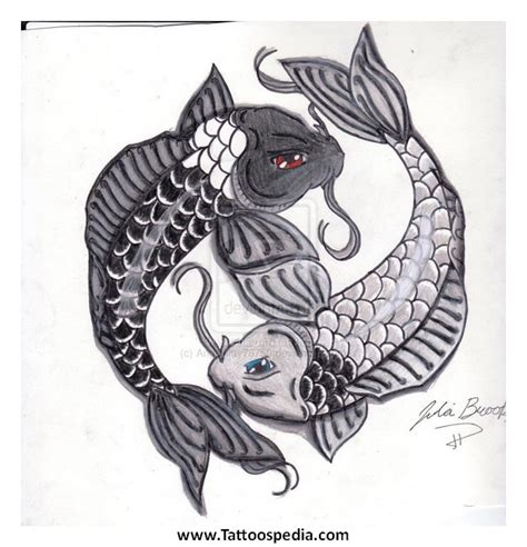 ying yang in koi fish style dejavu tattoo studio koi fish ying yang tattoo designs 3
