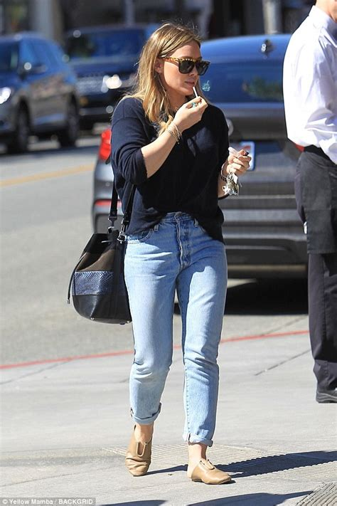 Hilary Duff Keeps Clothes On For Fhm by Hilary Duff Keeps It Casual In Rolled Up Denim And Flowing
