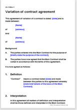 variation of contract agreement change terms of a contract