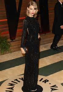 dazzles in black sequin dress at oscars