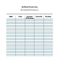 blood pressure template 30 printable blood pressure log templates template lab