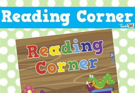 free printable reading banner reading corner sign bug theme printable classroom