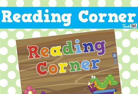 reading corner reading corner sign bug theme printable classroom