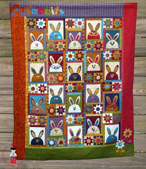 quilt pattern rabbit the rabbits at hyde park pattern quilts i like pinterest
